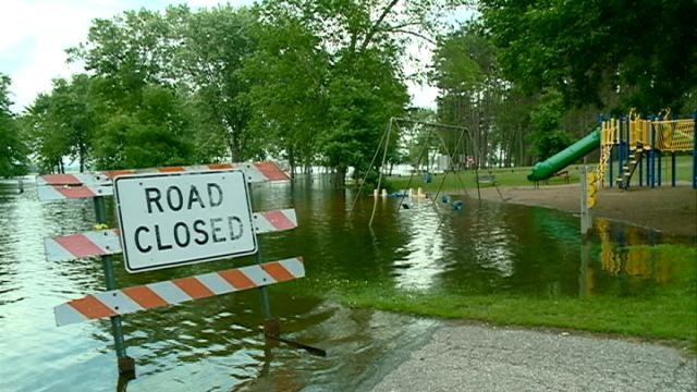 Flooding forces campers to move to higher ground