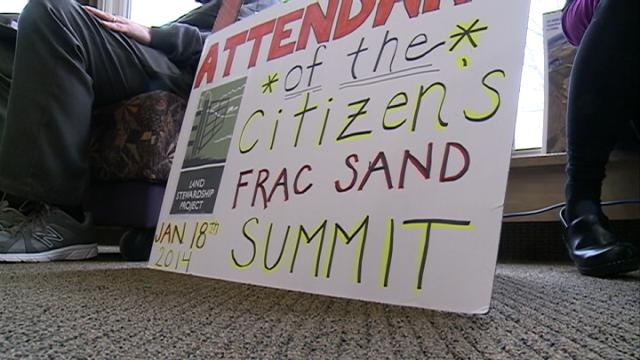 Citizens voice concern over frac sand industry