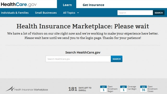 Glitches on healthcare.gov after health insurance marketplace opens