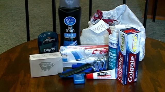 Franciscan Sisters collecting hygiene products for homeless