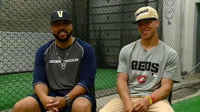 MLB prospect Jeren Kendall, father Jeremey sit down with News 8