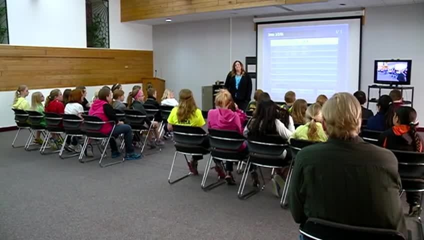 Local 5th & 6th grade students get a taste of college life