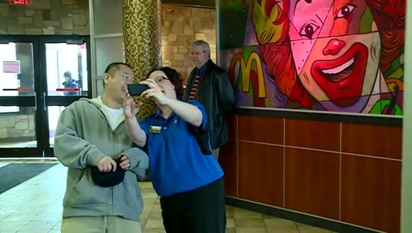 Area McDonald's customers payin' for their food with lovin'