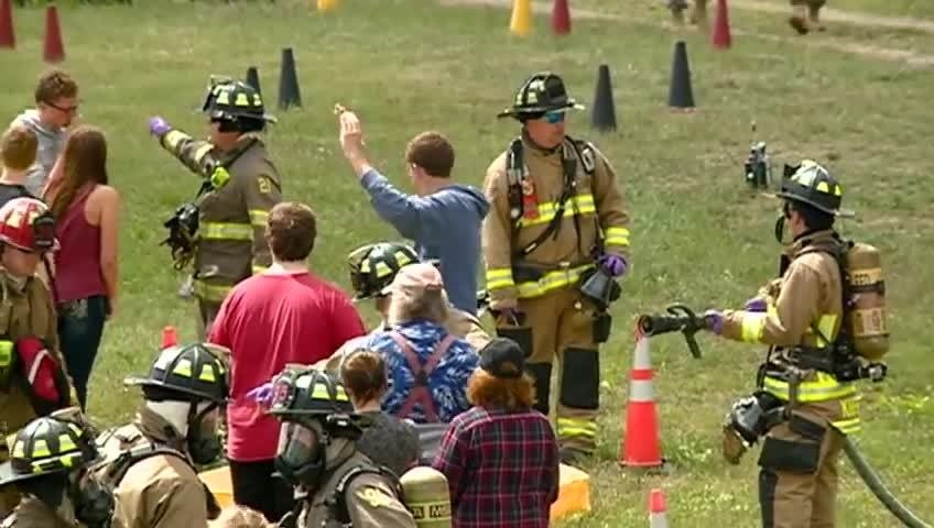 Military units, first responders train at Volk Field for disasters