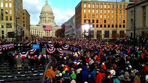 President Obama campaigns in Madison