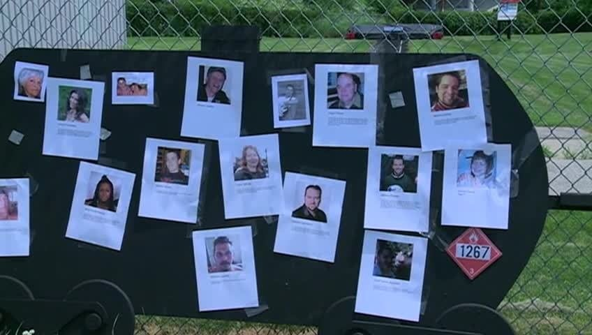 Local community members hold rememberance for rail accident victims