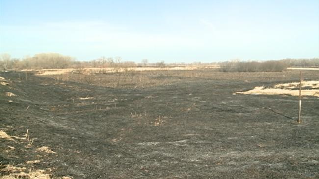 Wildlife refuge conducts controlled burn