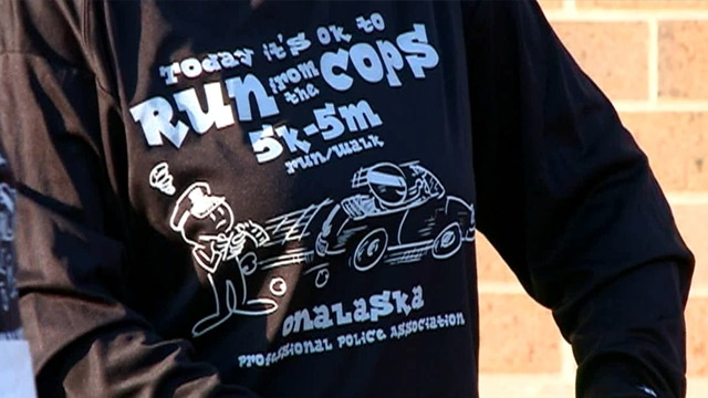 Money raised from 'Run from the Cops' event helps two non-profits