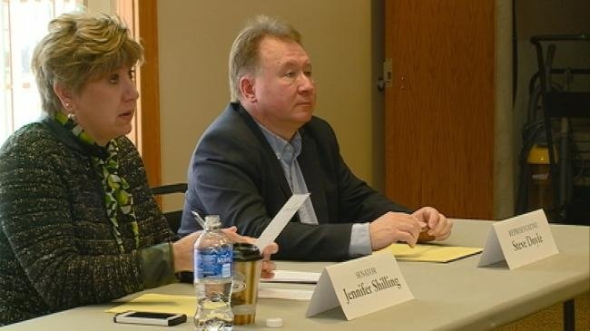 Sen. Shilling, Rep. Doyle hold budget proposal listening session
