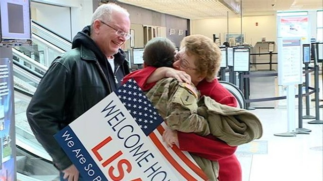 Local soldiers return home early for the holiday