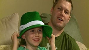 Father, son share St. Patrick's Day bond