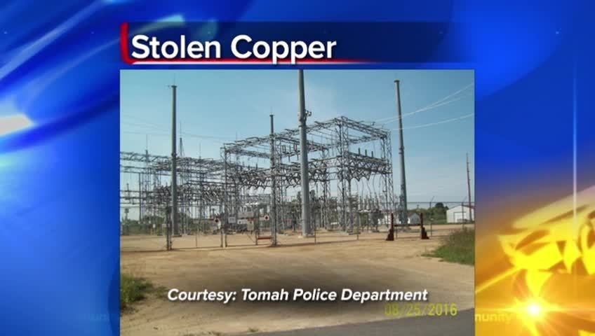 500 ft. of copper cable stolen from Alliant Energy substation in Tomah