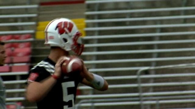 Wisconsin QB spot open on first day of camp