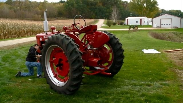 Local student finalist in tractor restoration competition