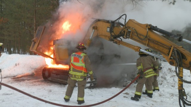 Tree cutter catches fire in Jackson County
