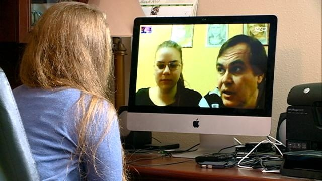Ukrainian student shows concern for family's safety in Kiev