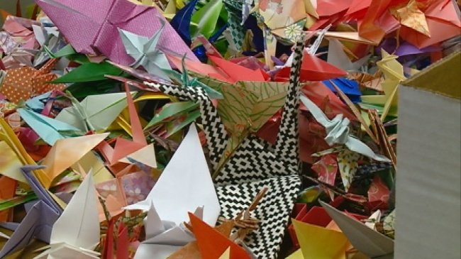 Central students unite against bullying with origami