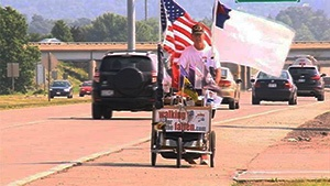 Military veteran 'Walking for the Fallen' through La Crosse area