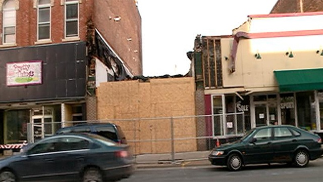 Demolition begins on downtown Winona buildings destroyed by fire