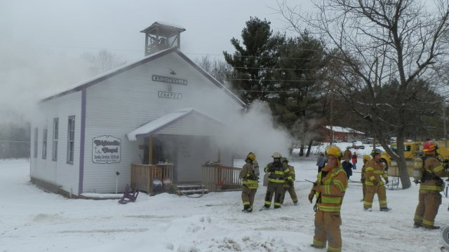 Furnace explosion likely cause of area church fire