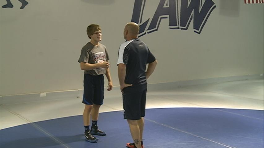 Local youth wrestler training for Serbia