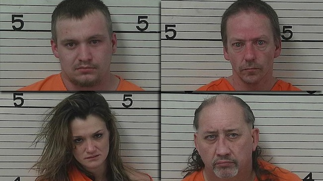 Four arrested in Jackson Co. meth busts