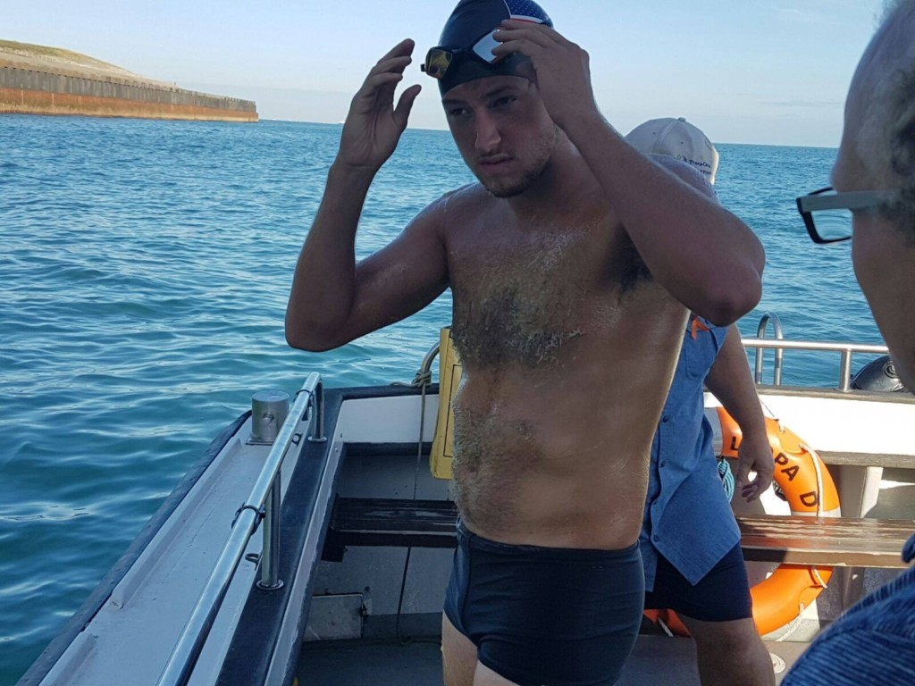 Local man attempts swim across English Channel to honor sister