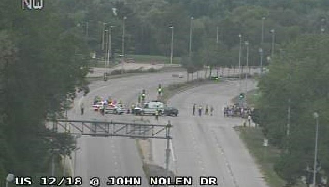 Protesters in road cause partial closure of John Nolen Drive in Madison