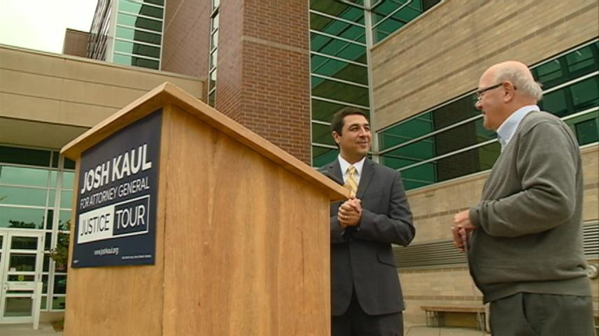 Wisconsin Attorney General candidate Josh Kaul campaigns in La Crosse