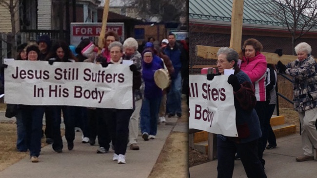 Stations of the Cross walk held in La Crosse on Good Friday