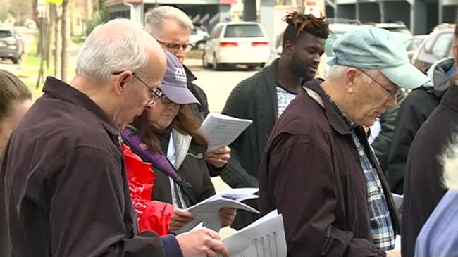 Franciscan Spirituality Center holds 'Justice and Peace Stations of the Cross' Walk