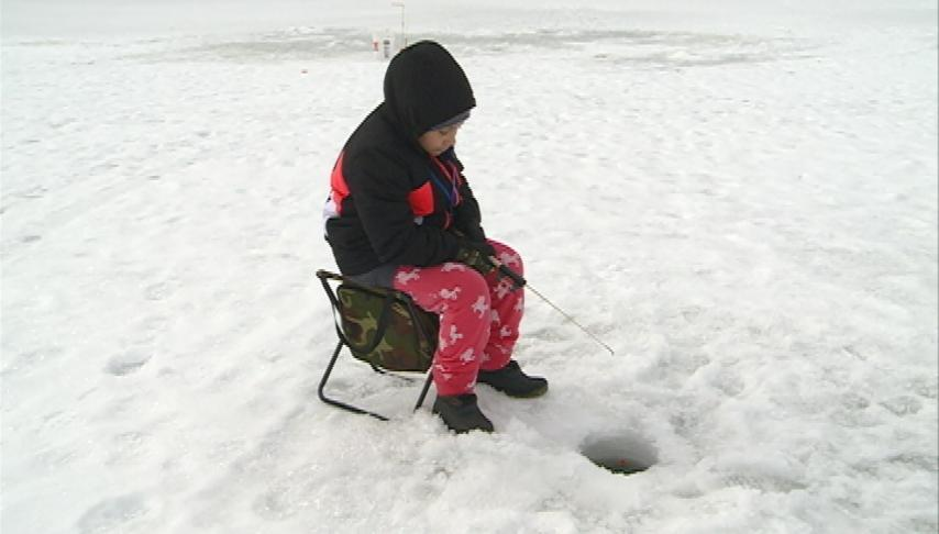Winona kids tackle ice fishing