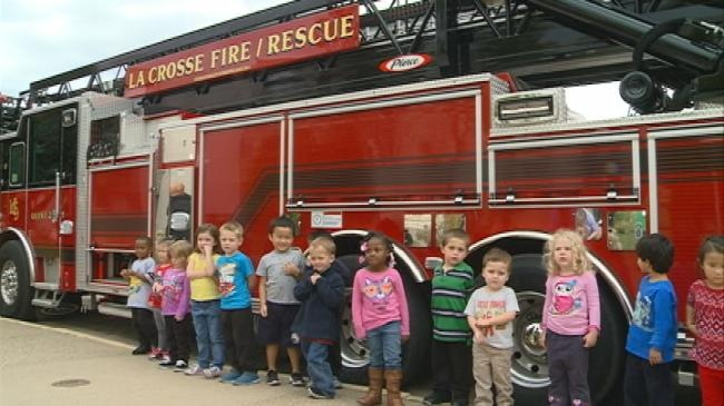 La Crosse Fire Department visits area schools for Fire Safety Week