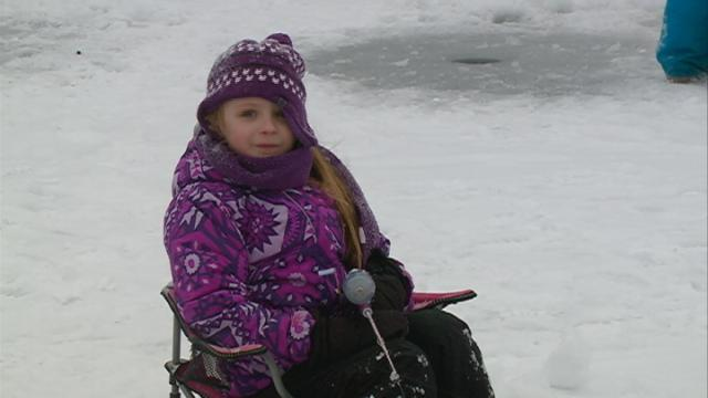 Kids Ice Fishing Day lets kids catch their first frozen water fish