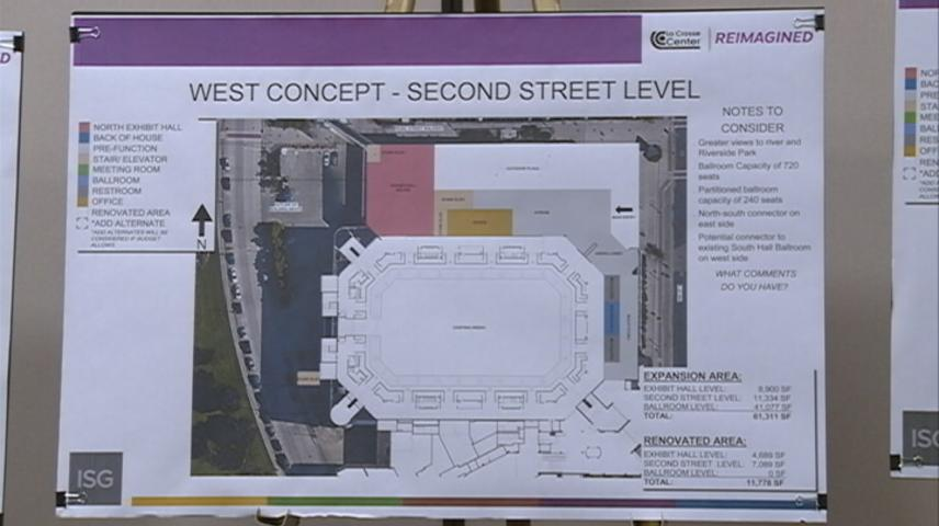 """""""West Plan"""" for La Crosse Center renovation passes its first city committee"""