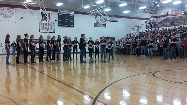 La Crosse Central  holds pep rally for girls basketball