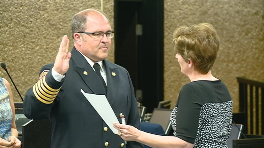 La Crosse's new Fire Chief swears in