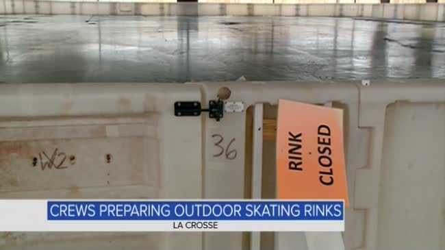 Crews working to get outdoor skating rinks up and running