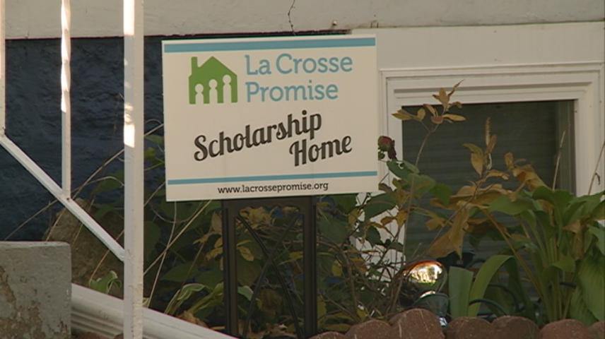 La Crosse Promise celebrates its first scholarship grant for a home revitalization