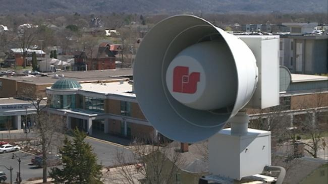 Tornado sirens sound for Severe Weather Awareness Week