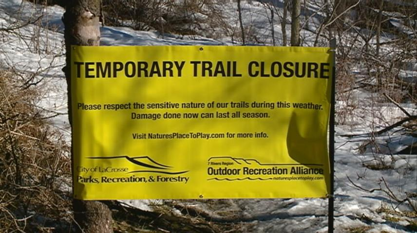 La Crosse hiking trails close during spring thaw