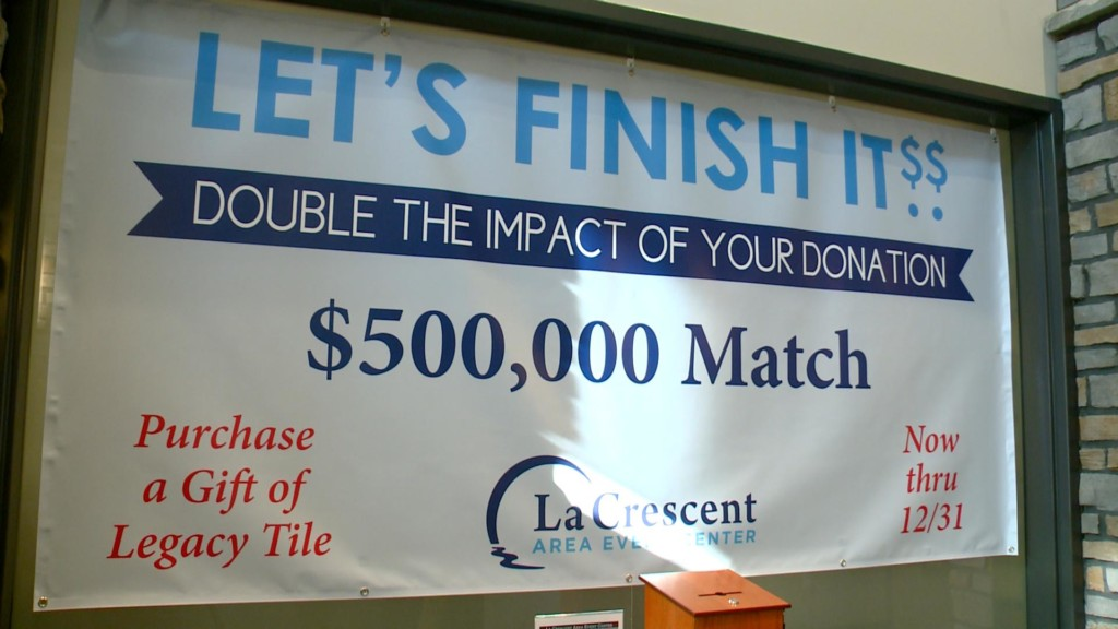 Donation matching to help La Crescent Area Event Center