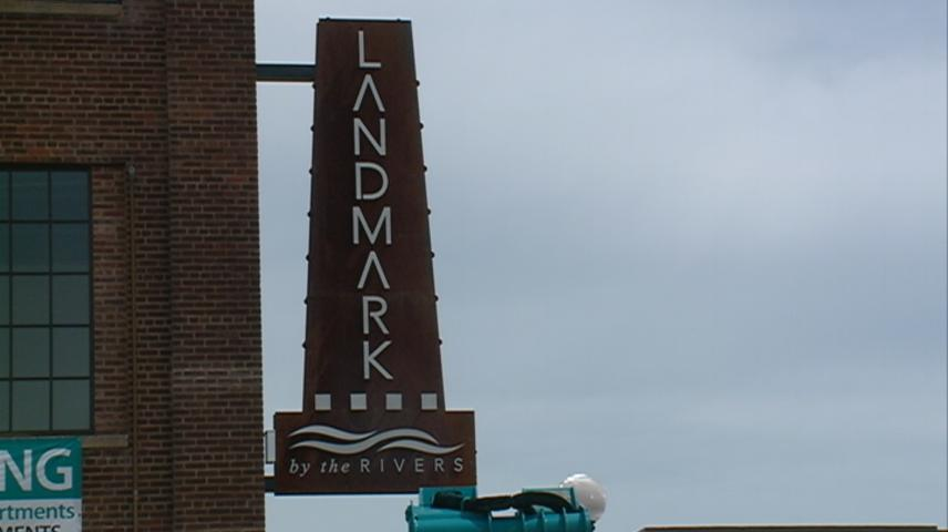 New signage up for Landmark by the Rivers building in downtown La Crosse
