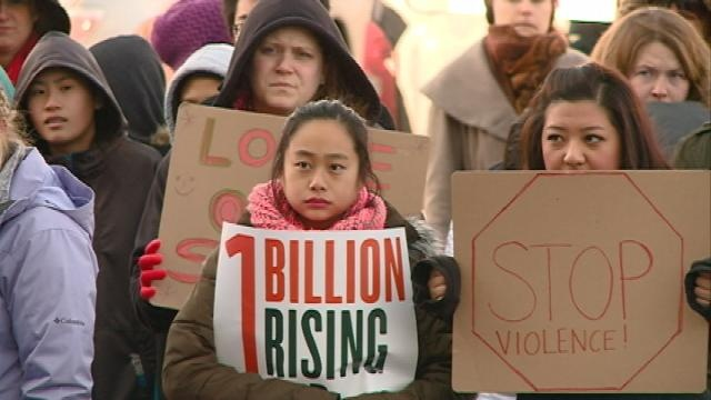 """Community members take part in """"One Billion Rising"""" campaign"""
