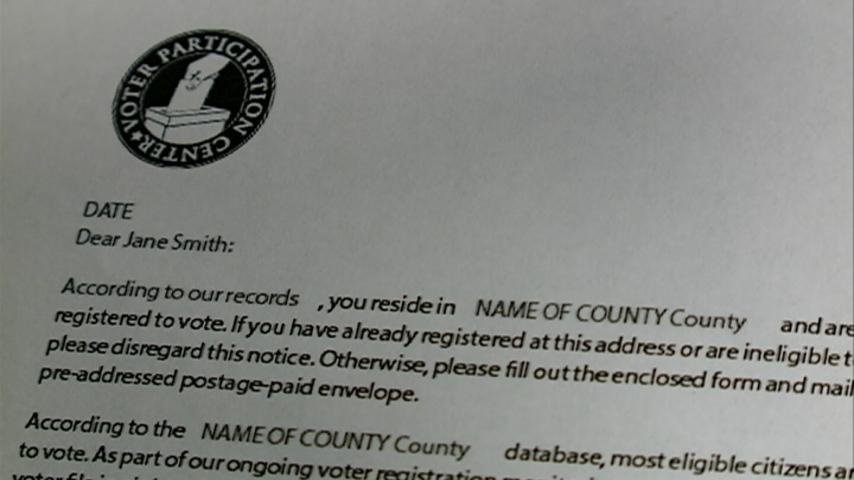 Registration letters causing confusion among voters