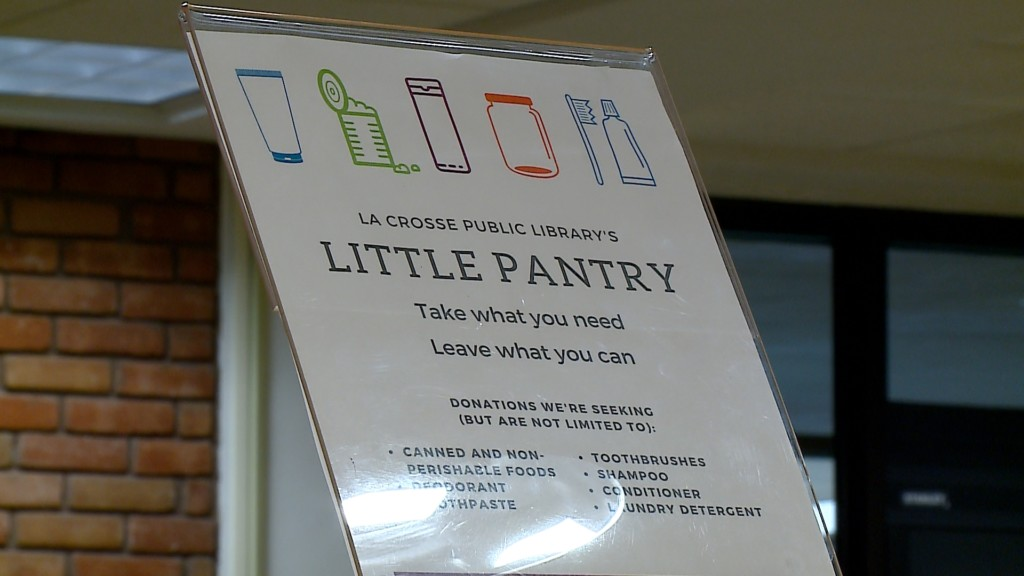 La Crosse Public Library's 'Little Pantry' needs donations