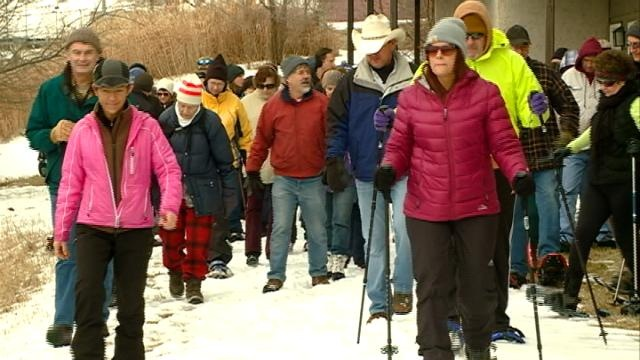 Linked to the Land kicks off with hiking and snow shoeing