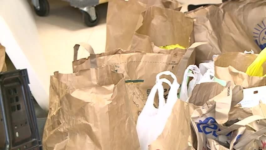 Donation of 250 pounds of canned food given to Salvation Army