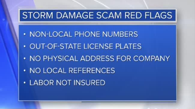 Contractors warn of possible storm damage scams