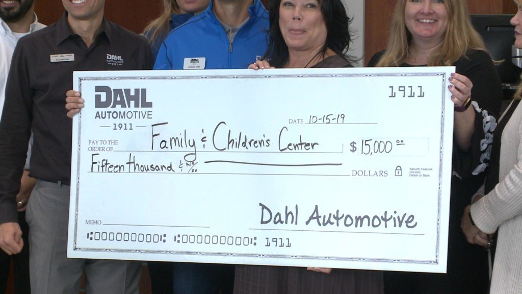 $15,000 dollars donated to Family and Children's Center in La Crosse